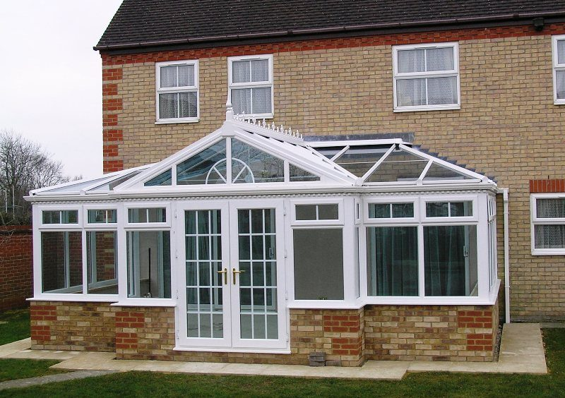 image shows a new large conservatory